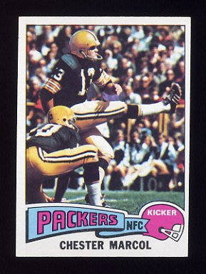 1975 Topps Football #330 Chester Marcol - Green Bay Packers