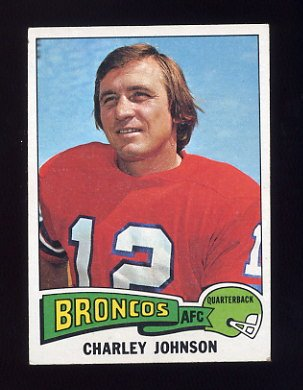 1975 Topps Football #295 Charley Johnson - Denver Broncos VgEx
