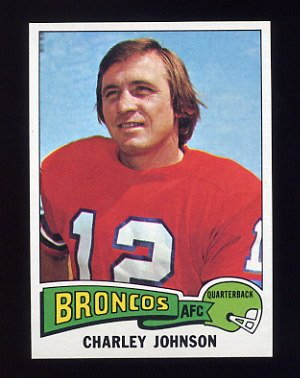 1975 Topps Football #295 Charley Johnson - Denver Broncos NM-M