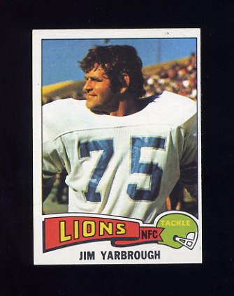 1975 Topps Football #279 Jim Yarbrough - Detroit Lions