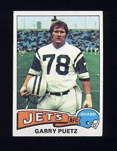 1975 Topps Football #259 Garry Puetz - New York Jets