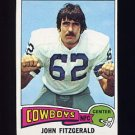 1975 Topps Football #257 John Fitzgerald - Dallas Cowboys