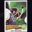 1975 Topps Football #249 Art Malone - Philadelphia Eagles