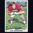 1975 Topps Football #248 Cas Banaszek - San Francisco 49ers