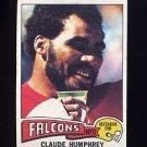 1975 Topps Football #245 Claude Humphrey - Atlanta Falcons
