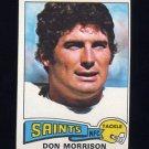 1975 Topps Football #242 Don Morrison - New Orleans Saints