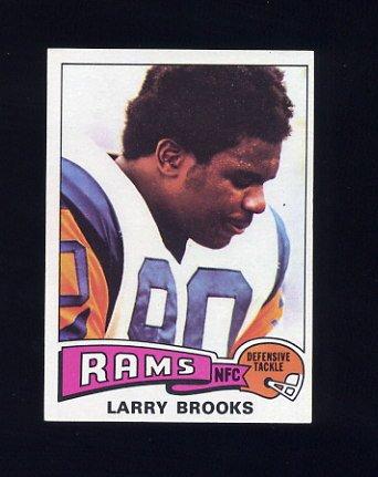 1975 Topps Football #231 Larry Brooks - Los Angeles Rams