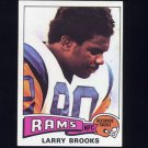 1975 Topps Football #231 Larry Brooks - Los Angeles Rams