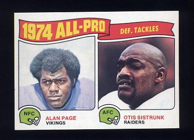 1975 Topps Football #214 Alan Page / Otis Sistrunk