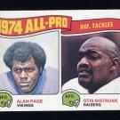 1975 Topps Football #214 Alan Page / Otis Sistrunk