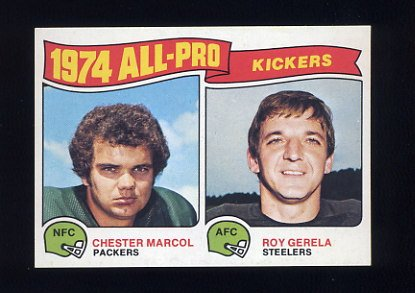 1975 Topps Football #212 Chester Marcol / Roy Gerela