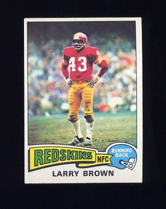 1975 Topps Football #200 Larry Brown - Washington Redskins