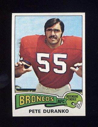 1975 Topps Football #187 Pete Duranko - Denver Broncos