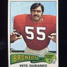 1975 Topps Football #187 Pete Duranko - Denver Broncos