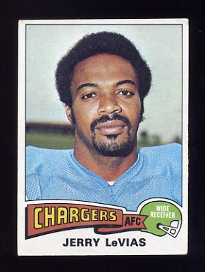 1975 Topps Football #181 Jerry LeVias - San Diego Chargers Vg