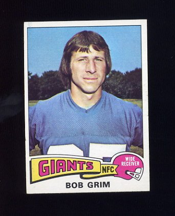 1975 Topps Football #173 Bob Grim - New York Giants