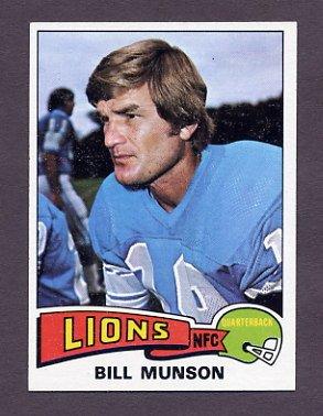 1975 Topps Football #172 Bill Munson - Detroit Lions NM-M