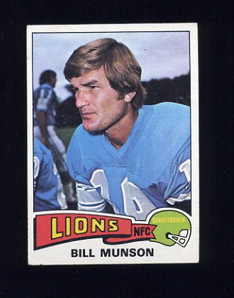 1975 Topps Football #172 Bill Munson - Detroit Lions VgEx
