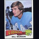 1975 Topps Football #172 Bill Munson - Detroit Lions VgEx