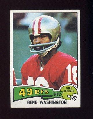1975 Topps Football #165 Gene Washington - San Francisco 49ers VgEx
