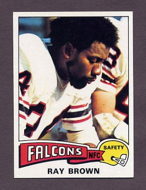 1975 Topps Football #161 Ray Brown - Atlanta Falcons NM-M