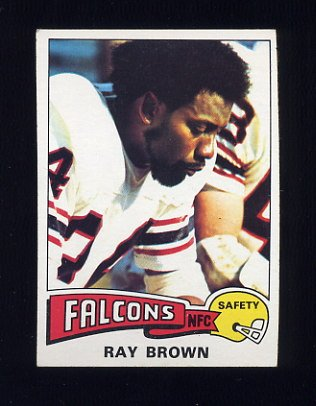 1975 Topps Football #161 Ray Brown - Atlanta Falcons Ex
