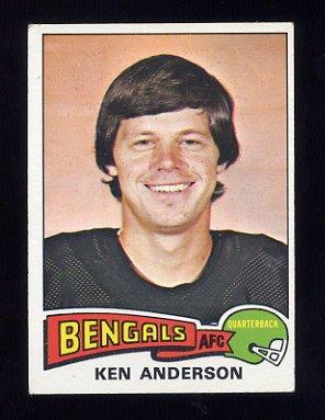 1975 Topps Football #160 Ken Anderson - Cincinnati Bengals