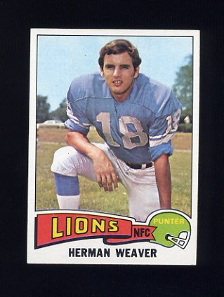 1975 Topps Football #146 Herman Weaver - Detroit Lions