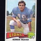 1975 Topps Football #146 Herman Weaver - Detroit Lions