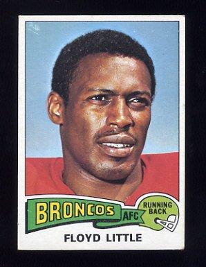 1975 Topps Football #132 Floyd Little - Denver Broncos Ex