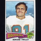 1975 Topps Football #128 Howard Twilley - Miami Dolphins Ex