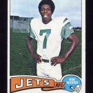 1975 Topps Football #122 Ed Bell - New York Jets ExMt