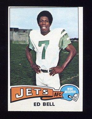 1975 Topps Football #122 Ed Bell - New York Jets Ex