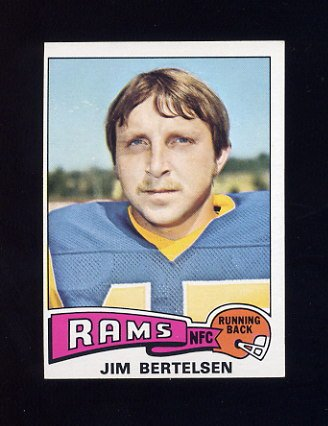 1975 Topps Football #121 Jim Bertelsen - Los Angeles Rams