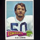 1975 Topps Football #118 D.D. Lewis - Dallas Cowboys G