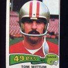 1975 Topps Football #110 Tom Wittum - San Francisco 49ers ExMt
