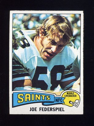 1975 Topps Football #107 Joe Federspiel - New Orleans Saints