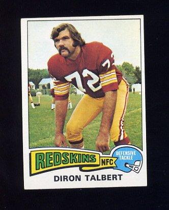 1975 Topps Football #106 Diron Talbert - Washington Redskins NM-M