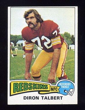 1975 Topps Football #106 Diron Talbert - Washington Redskins ExMt