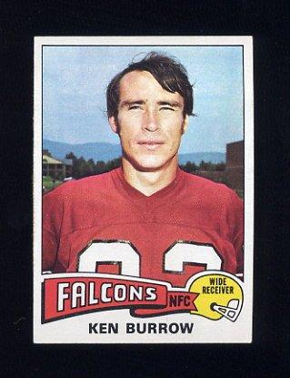 1975 Topps Football #105 Ken Burrow - Atlanta Falcons