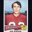 1975 Topps Football #105 Ken Burrow - Atlanta Falcons
