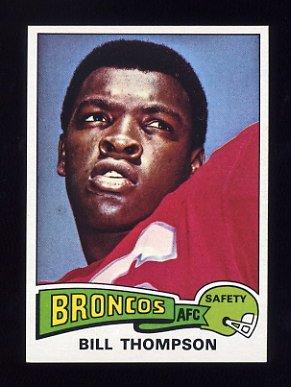 1975 Topps Football #104 Bill Thompson - Denver Broncos NM-M