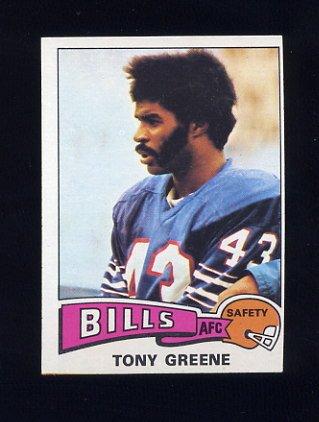 1975 Topps Football #54 Tony Greene - Buffalo Bills