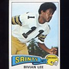 1975 Topps Football #47 Bivian Lee - New Orleans Saints