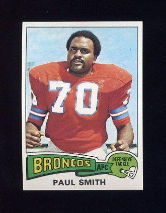 1975 Topps Football #45 Paul Smith - Denver Broncos