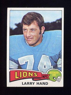1975 Topps Football #42 Larry Hand - Detroit Lions NM-M