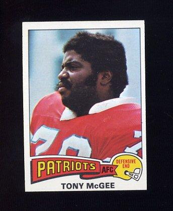 1975 Topps Football #41 Tony McGee - New England Patriots