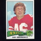 1975 Topps Football #32 Dan Abramowicz - San Francisco 49ers