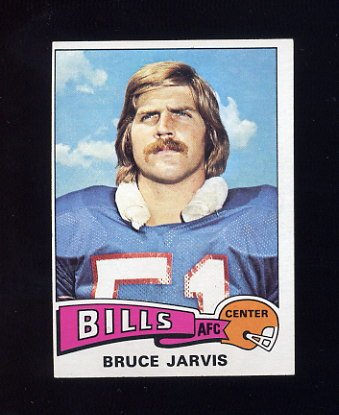 1975 Topps Football #27 Bruce Jarvis - Buffalo Bills