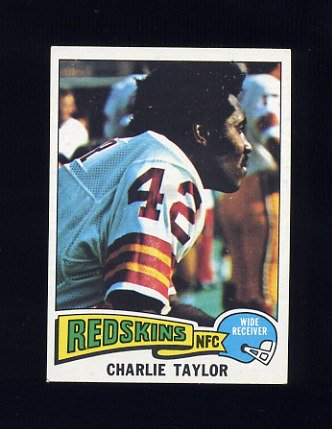 1975 Topps Football #20 Charley Taylor - Washington Redskins